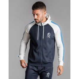 Opiniones Gym King Colour Block Poly Full Zip Hoodie, Azul