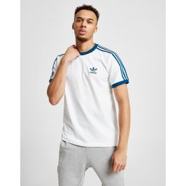 adidas Originals 3-Stripes California Short Sleeve T-Shirt, Blanco