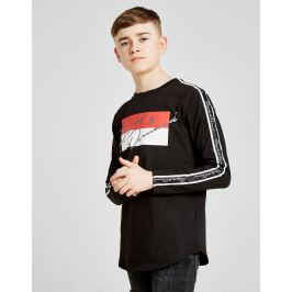 Supply & Demand Script Tape Long Sleeve T-Shirt Junior - Only at JD, Negro
