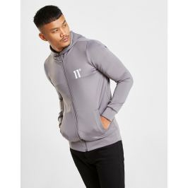 11 Degrees Core Poly Zip Through Hoodie, Gris