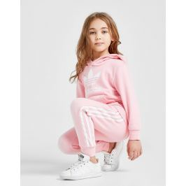 Opiniones adidas Originals Girls' Adicolour Overhead Tracksuit Children, Rosa