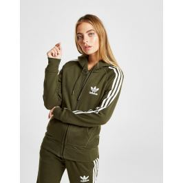 adidas Originals 3-Stripes California Full Zip Hoodie, Verde