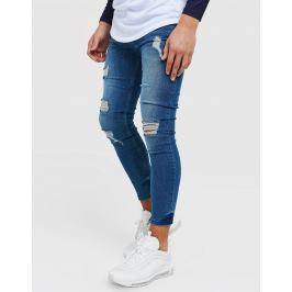 Opiniones ILLUSIVE LONDON vaqueros Skinny Washed Ripped júnior - Only at JD, Azul