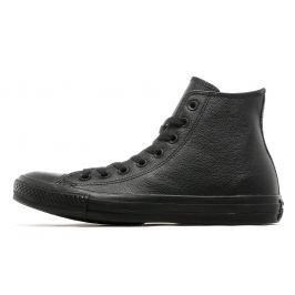 Converse All Star High Leather Mono, Black Monochrome
