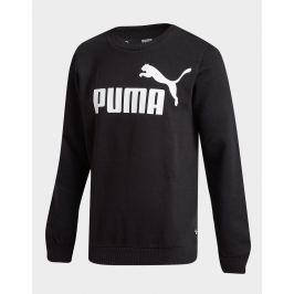 PUMA Core Logo Crew Sweatshirt Junior, Negro